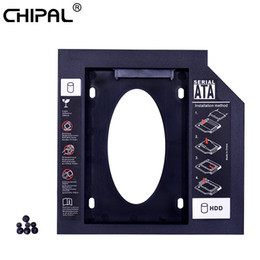 корпуса жестких дисков Скидка CHIPAL 50pcs Universal Second 2nd HDD Caddy 9.5mm SATA 3.0 2.5'' SSD Hard Disk Drive Case Enclosure For Laptop ODD DVD-ROM