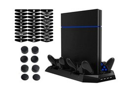 2019 base de carga dock ps4 10 en 1 Multifunción PS4 Cooling Stand w / 4 muelles de carga Cargador 2 puertos USB 4 USB Hub 3.0 30pcs Light Bar Sticker base de carga dock ps4 baratos