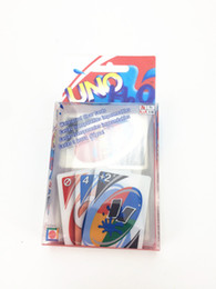 Wholesale Plastic Play Table - hot plastic UNO Playing Poker Cards Table Game Standard Edition Family Fun Entermainment Board Game Kids Funny Puzzle Game in stocks
