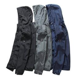 Wholesale Microfiber Logo - New Fashion brand men Anti-rain jacket top quality male autumn winter embroidery Logo jacket male fashion coat for men