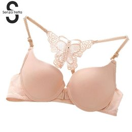 f7aa89a2d4 Sexy Front Closure Women Bra Seamless Adjustable Push Up Bra For Small  Breast Back Butterfly Design Sexy Women NYB1295