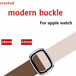 наручные часы Скидка CRESTED Leather Modern buckle band  3 42 mm/38mm iwatch 3/2/1 watch band strap wrist bracelet watchband