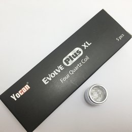 Wholesale Head Stock - Yocan Evolve Plus XL Wax Atomizers Coil Head Replacement - Quad Quartz Coil For Yocan Wax Vapoizer In Stock
