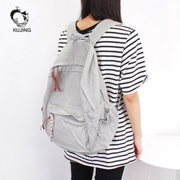 Wholesale Cheap Large Canvas Art - KUJING Women Backpack Hot High-end Canvas Student Backpack Cheap Art Youth Travel Casual Large Capacity Female