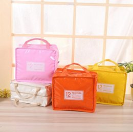 Wholesale Thermal Lunch Picnic Bag - Insulation Lunch Box Bag Square Package Thermal Lunch Cooler Beam Port Work School Picnic Lady Handbag Kids Lunch Bags 50pcs OOA3834