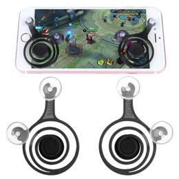 Jogos de arcade de tela sensível ao toque on-line-2 pçs / set smartphones mini joysticks para qualquer jogo de arcade tablet touch screen telefone