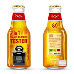 IPega LCD Dijital Alkol Nefes Tester Analyzer Breathalyzer Uyarısı ile Android iPhone / Samsung / HTC arkadan aydınlatmalı ekran nereden alkol analizörü nefes test cihazı tedarikçiler