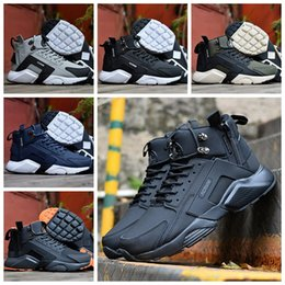 detailed look f0ac0 2cd8d 2018 New Air Huarache 6 X acronimo City MID High Top in pelle Huaraches  Mens scarpe da ginnastica Running Shoes Uomo Huraches Sneakers Hurache  Taglia 40-45