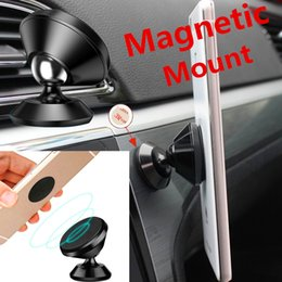 Wholesale Phone Magnet Car Mount - Magnetic Holder Car Mount Dashboard Mount Stand Magnet phone Support With adhesive Magnetic Stand Car Mount Holder Smart in Box
