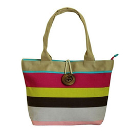 striped cotton canvas tote bags Coupons - Luxury Handbags Women Bags Designer Large Canvas Colorful Striped Fashionable Female Handbag Shopping Shoulder Bag Female Hand Tote Bag