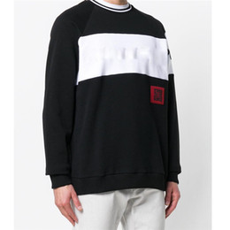 embroideries sweatshirts Promo Codes - Designer Hoodies Sweatshirts Fashion Pullover Sweatshirts Brand Mens Pullover Long Sleeved Letter Embroidery Clothes M-3XL