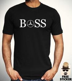 Meilleurs logos automobiles en Ligne-Mercedes Benz Boss Logo T-shirt Voiture F1 Mode Nouveauté Tee Cadeau Pour Hommes Top S - Personnalité XXL 2018 Marque T-shirt Top