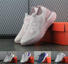Wholesale ladies dark blue shoes - New Arrivals Women Pink Running Shoes Epic React Fly Knit Trainers Mens Sports Shoe Lady Casual Athletic Fitness Sneaker China Shoes On Sale