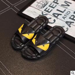 Wholesale Leather Slip Covers - Designer Sandals FEND Summer Luxury Slipper for Men Black Beach PVC Slides Men Slippers Designer Shoes