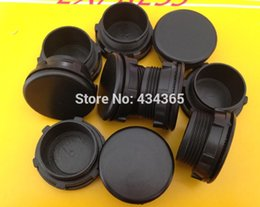 Wholesale pt black - 500pcs 30mm mounting hole PT Thread Gray Black Plastic Button Switch Panel Plug Cover