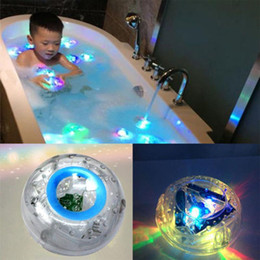 Wholesale Funny Bathrooms - Colorful Bathroom LED Light Toy Funny Kids Baby Bathing Toy Light Waterproof Bath Tub Beautiful Lamp