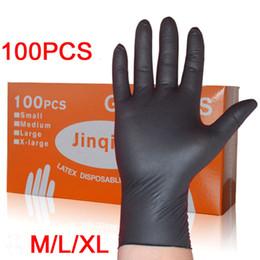 guanti meccanici xl Sconti LESHP 100PCS / SET pulizia domestica lavaggio guanti meccanici monouso guanti da laboratorio in nitrile nero nail art antistatico D18110705