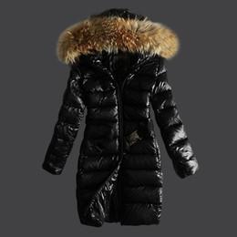 Wholesale Womens Long Goose Down Coats - 2018 fashion MONC- Winter Parkas Womens Duck Down Hooded Jacket Female Wadded Jackets Snow Wear Coat Women Winter Clothing 8 European Size