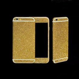 Discount sticker phone full body - Mobile Phone Sticker for iPhone X 10 8 7 6 6s Plus 5S SE 5 Twinkling Colorful Protective Film Full Body Glitter Bling Phone Stickers