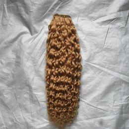 """2019 reine amour vierge cheveux Cheveux vierges brésiliens Blonde au miel 10 """"-26"""" Vagues d'eau brésilienne 100g / PCS Bundles de cheveux humains Double trame Remy Bundles d'armure de cheveux"""