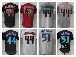 Wholesale Cool Yoga - 2018 Mens #51 jersey Randy Johnson #44 Paul Goldschmidt 100% stitched cool base free shipping