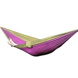 Wholesale Fabric Double Hammock - Wholesale-Hot Sale Nylon Fabric Hammock Travel Sleeping Camping For Double Two Person