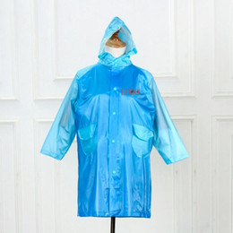 Gabardinas largas online-Costumbre Hombres Mujeres impermeable largo pedazo largo impermeable rompevientos