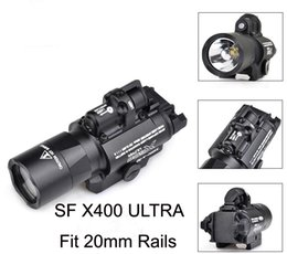 Ferrovia tattica laser rosso dot online-Tactical SF X400 CREE Ultra High Output LED Pistol M4 Fucile Torcia Red Dot Laser Combo Sight 20mm Picatinny Rail Mount