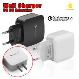 Canada Top Qualtiy QC 3.0 US EU Chargeur rapide de voyage pour maison, chargeur adaptatif, pour Samsung Offre