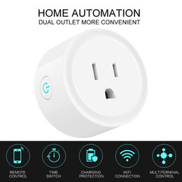 Tempo de wifi on-line-Wifi Tomada Interruptor Inteligente Interruptor Rodada EUA Plug Tomada de Controle Remoto Tomada Interruptor de Sincronização para Smartphone Android IOS Home Automation