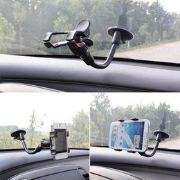 Универсальный автомобильный телефон держатель окна лобового стекла сосать держатель липкий 360 регулируемый держатель мобильного телефона для iPhone Samsung HTC от Поставщики сосать мобильный