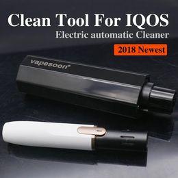 2018 Innovativo pulitore automatico per sigaretta elettronica ELIO EC100 / Pulitore elettrico per spazzolino automatico IQOS / tipo a pressione da spazzole di pulizia dei tipi fornitori