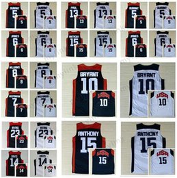 Wholesale usa team basketball shorts - 2012 USA Dream Team Men's Jerseys Cheap Russell Westbrook,Kevin Durant,Deron Williams,Davis,Anthony,Irving,George Jersey Navy Blue White