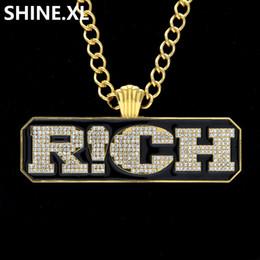 Hip Hop Kabarcık Mektubu R! CH Kolye Kolye Altın Renk Buzlu Out Lab Elmas Erkekler Bling Parti Takı Hediye nereden mektup r mücevher tedarikçiler