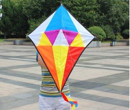 Wholesale Kite Big - I'M A BIRD Outdoor Sports Fashion Stuff Spell Rhombus Kite Stunt Easy Speed Control Shipping Free Shipping