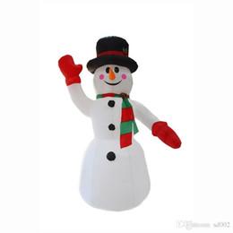 schneemann aufblasbar Rabatt Hände Herauf Schneemann-Form-aufblasbares vorbildliches Weihnachtsgarten-Dekorations-Wasser-Beweis-Polyester-Faser Eco freundliche Modelle weiches 130gs jj