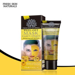 crystal mud free Promo Codes - 2018 Peel Off Facial Mask Black Crystal Gold Collagen Milk Blackhead Remover Face Mask Skin Care DHL Free Shipping