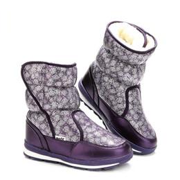 Canada Violet femmes bottes chaussures buffie marque neige bottes chaussures d'hiver pleine taille semelle antidérapante doublure de fourrure chaude expédition libre bon sel supplier purple snow boot Offre