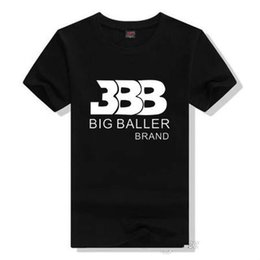 Wholesale Mens Red Star T Shirt - Lonzo Ball Beatles T Shirts Tshirts For Men Shirt BBB Big Baller Short Sleeve Gown Star Tees Leisure Printing Clothing Cotton Tshirt Mens