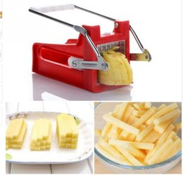 Wholesale French Fruits - Hand Push Type Potato Chipper French Fries Slicer Maker Vegetable Fruit Chip Cutting Device Stainless Steel Blade Chopper KKA4239