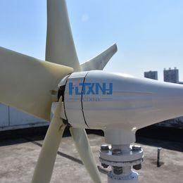 Ventilador de turbina online-Venta CALIENTE! Ventiladores de viento de la turbina de viento de 600W 12v 24v para el sistema híbrido solar del viento con el regulador