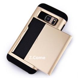 Wholesale Cs Fitting - Slim Armor CS slide Card Slot wallet Tough Case cover for Samsung Galaxy J3 J5 J510 J7 J710 A3 A5 A7 a510 a710 a310 2016 G530 Grand Prime