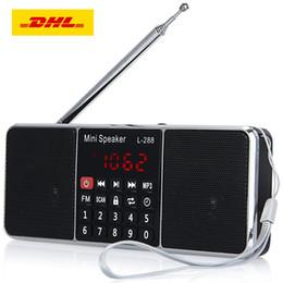 nouvelle radio vw Promotion L-288 Mini Radio FM portable Haut-parleur stéréo Lecteur de musique avec disque TFCard USB Écran LCD Contrôle du volume Haut-parleur rechargeable