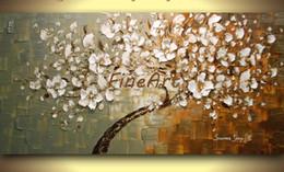 abstrakte gemälde wellen Rabatt große zeitgenössische Wand Kunst Spachtel Textur Baum Ölgemälde große Leinwand Wand Kunst dekorative Malerei Großhandel