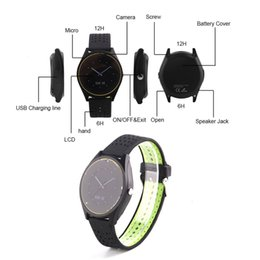 Wholesale Pet Red - V9 smartwatch android V8 DZ09 U8 samsung smart watches SIM Intelligent mobile phone watch can record the sleep state Smart watch