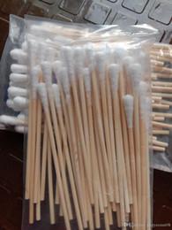 46 ватных тампонов для бытовой деревянной палочки красоты и макияжа хлопка от