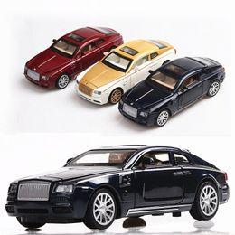 Juguetes de colección online-1/32 Escala Rolls-Royce Phantom Diecast Alloy Pull Back Car Collectable Toy Gift