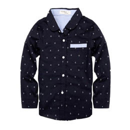 Abbigliamento per bambini Primavera Camicette Ragazzi Top Bambini Ragazzi Camicia Dots Maniche lunghe Camicie da bei modelli neri fornitori