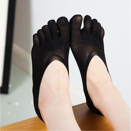 Wholesale Low Cut Toe Socks - Wholesale- 1Pair Cotton Blend Toes Ankle Socks Five Finger Short Low Cut Non Slip Sock Slipper for Women