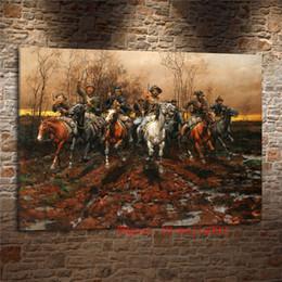 guerres de peinture Promotion Guerre Civile Missouri, Peinture Sur Toile Salon Décor À La Maison Art Mural Moderne Peinture à L'huile